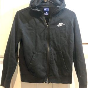 Nike Boy Medium Black Hoodie Zipper